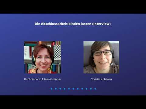Die Abschlussarbeit binden lassen [Interview mit Buchbinderin Eileen Gründer]
